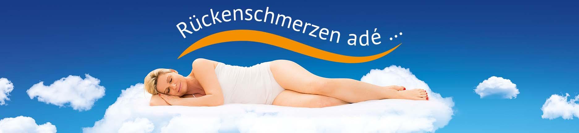 Schlafende Frau auf ERGOFITair-Matratze