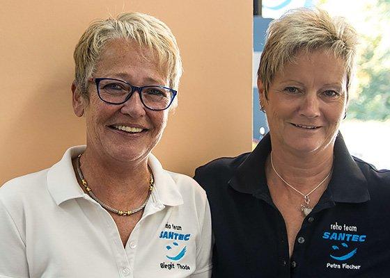 Zwei Santec-Mitarbeiterinnen